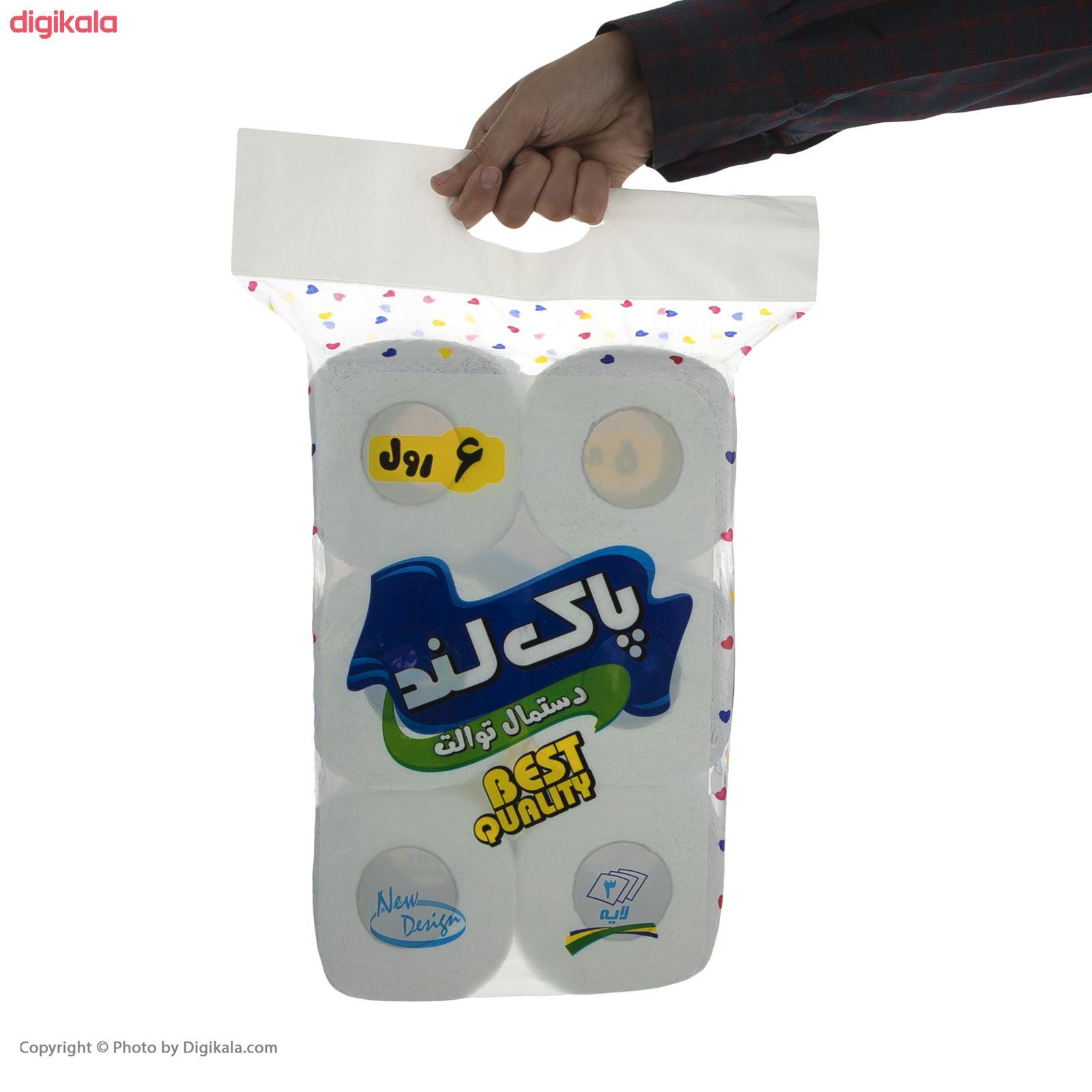 دستمال توالت پاکلند مدل Heart بسته 6 عددی main 1 3
