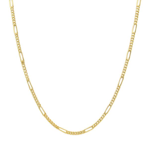 زنجیر طلا 18 عیار زنانه کاپانی مدل فیگارو کد KZ002