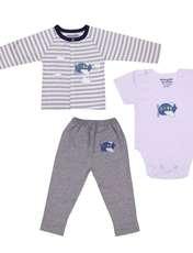 ست 3 تکه لباس نوزادی بی بی گیفت طرح هواپیما کد 524 -  - 1