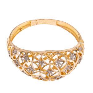 انگشتر طلا 18 عیار زنانه گالری یارطلا مدل فیوژن کد ANF05