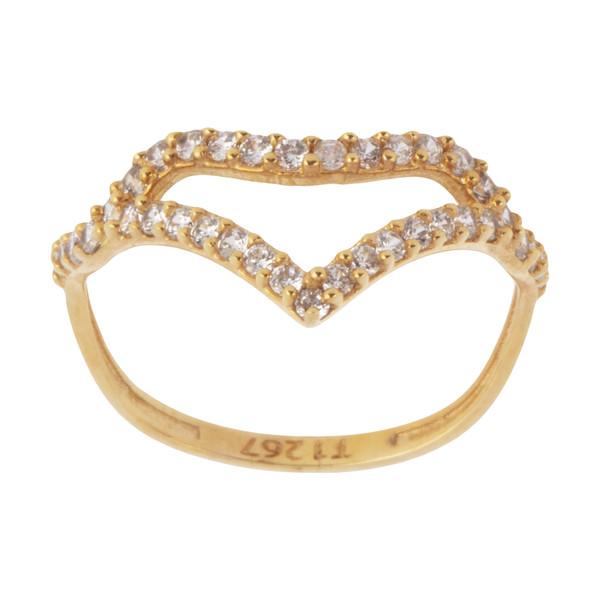 انگشتر طلا 18 عیار زنانه کانیار گالری کد AN12