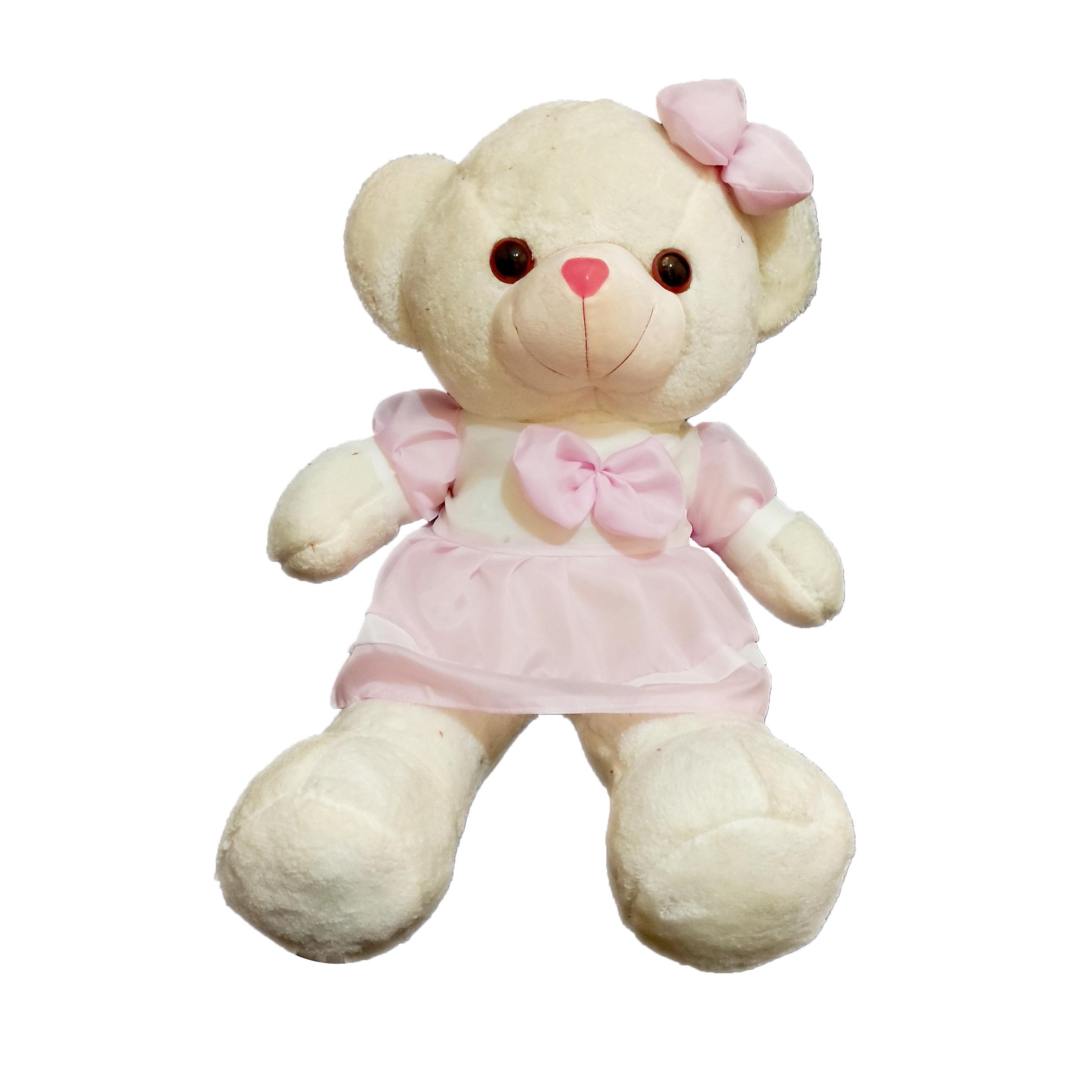 عروسک طرح خرس دختر مدل 80 ارتفاع 80 سانتی متر