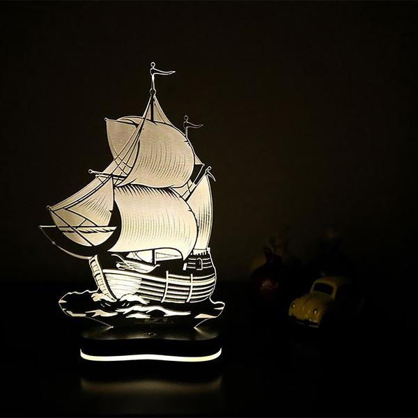 چراغ خواب سه بعدی گالری دکوماس طرح کشتی کد DMS150