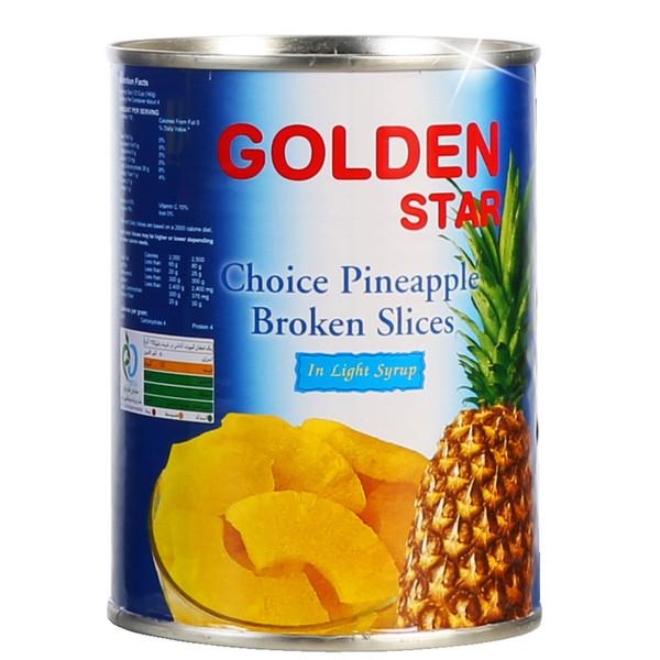 کمپوت آناناس خرد گلدن استار - 565 گرم