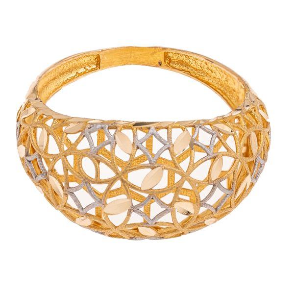 انگشتر طلا 18 عیار زنانه گالری یارطلا مدل فیوژن کد ANF02