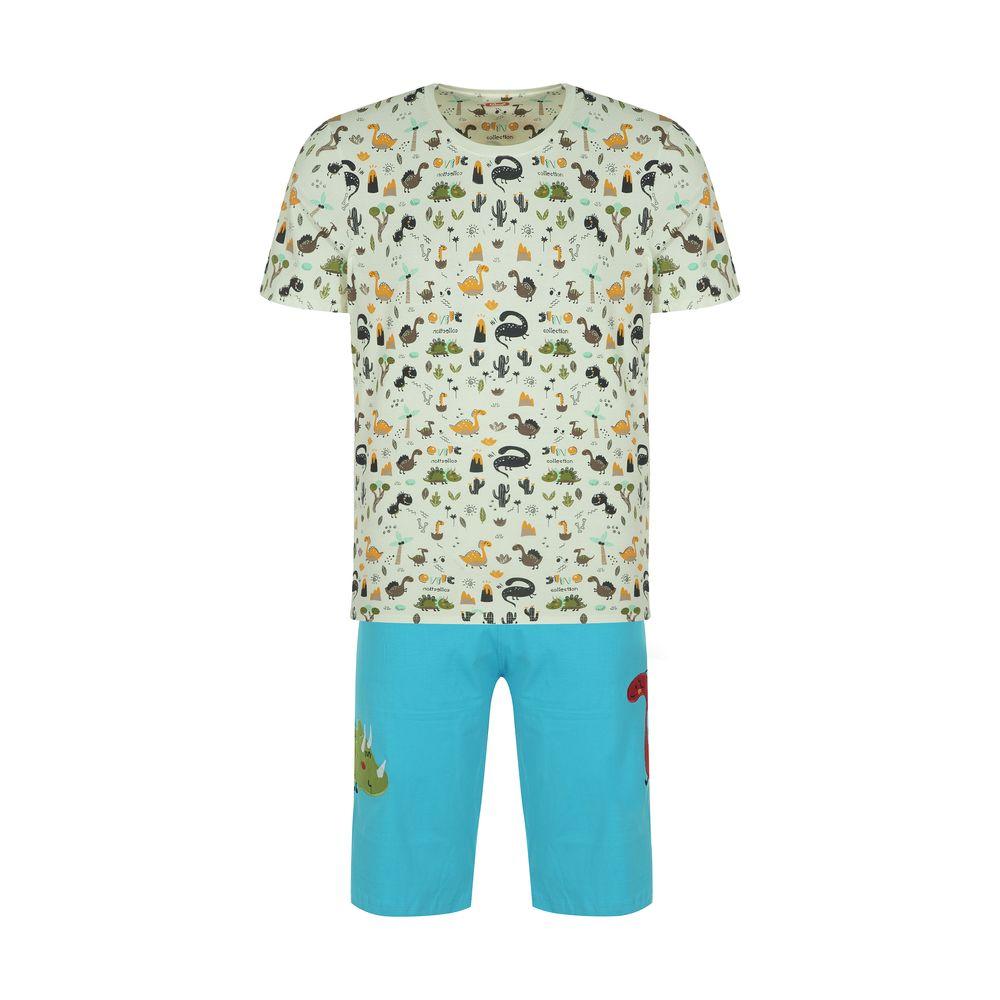 ست تی شرت و شلوارک راحتی مردانه مادر مدل 2041110-52