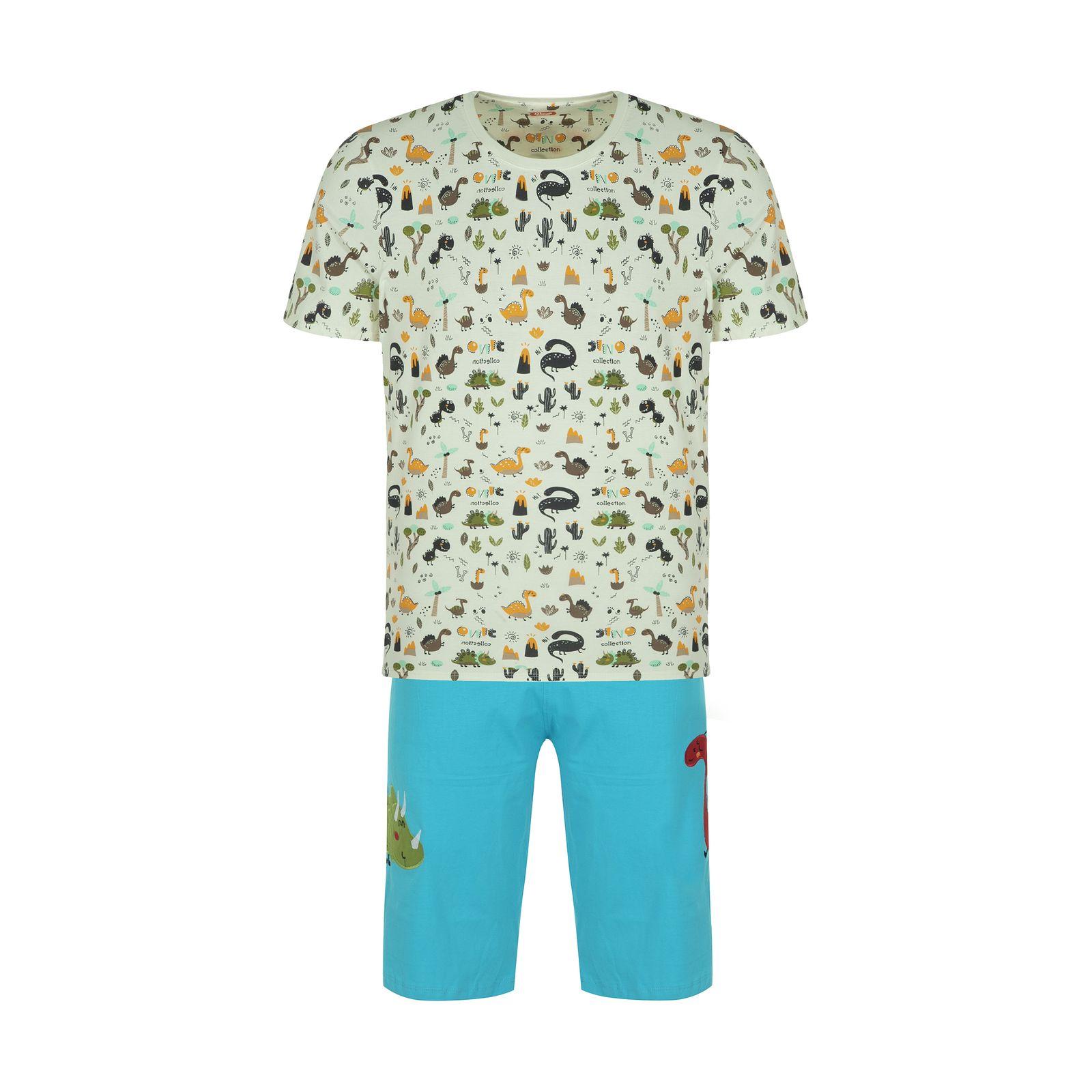 ست تی شرت و شلوارک راحتی مردانه مادر مدل 2041110-52 -  - 2