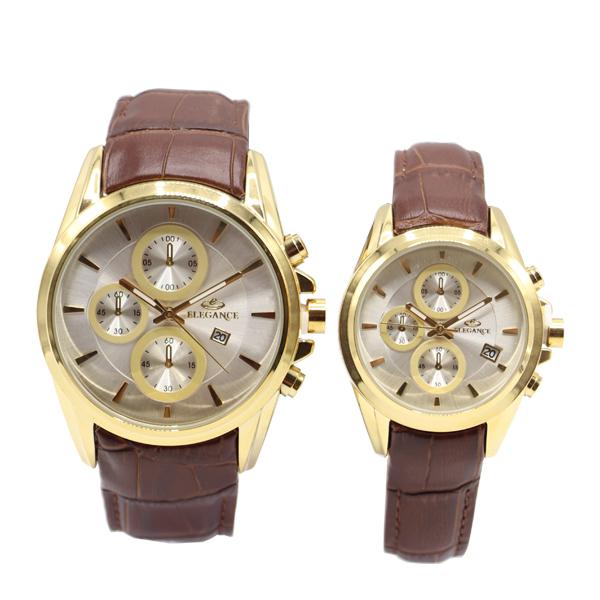 ست ساعت مچی عقربه ای زنانه و مردانه الگانس مدل eg6060