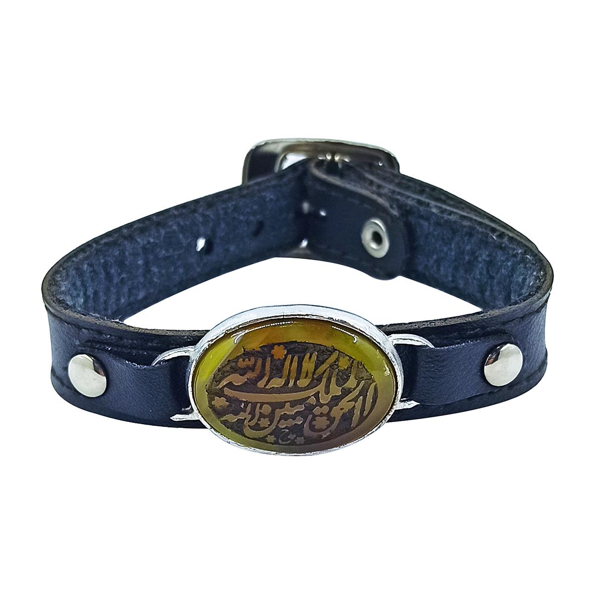 دستبند مردانه سلین کالا مدل عقیق خطی کد ce-As115