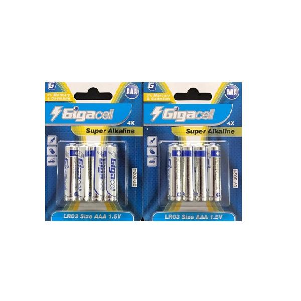باتری نیم قلم گیگاسل مدل LR03 بسته 8 عددی