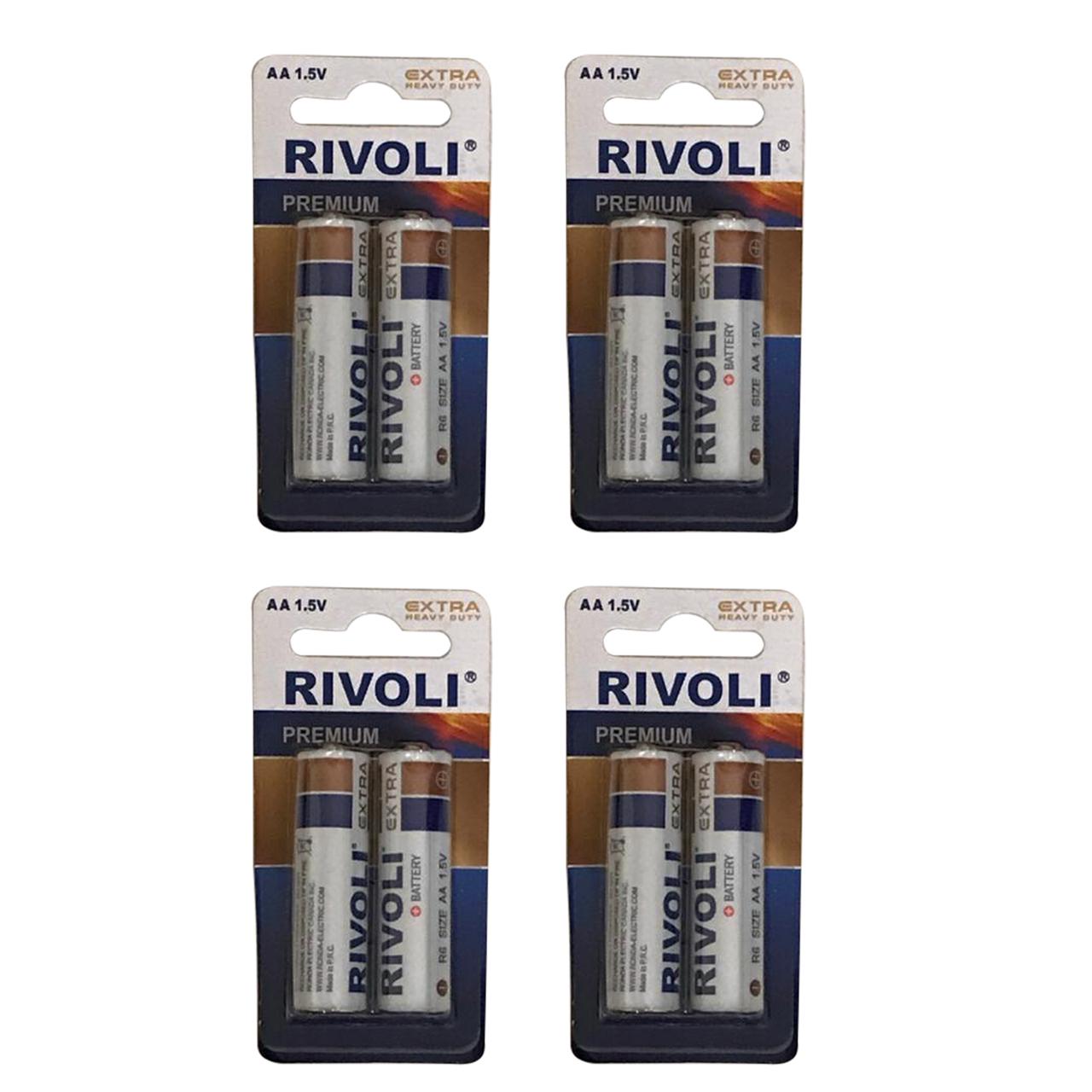 بررسی و {خرید با تخفیف} باتری قلمی ریوولی مدل R6 بسته 8 عددی اصل