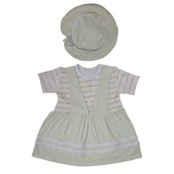 ست پیراهن و کلاه دخترانه کد 1889