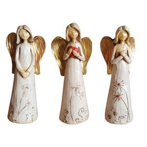 مجسمه لیلپار طرح فرشته مدل DGA-2114 مجموعه سه عددی