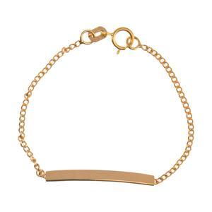 دستبند طلا 18 عیار دخترانه مایا ماهک مدل MB1050