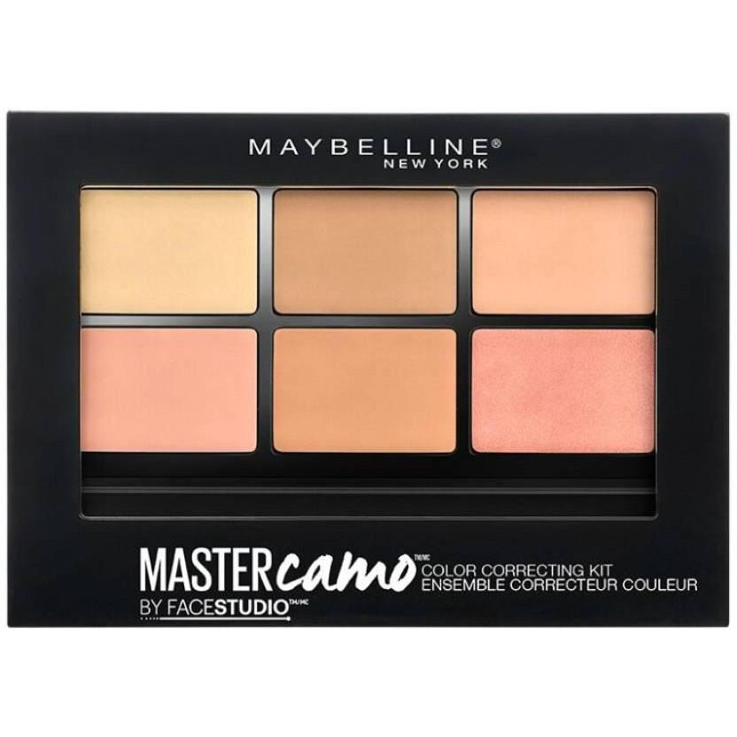 پالت کانسیلر و هایلایتر میبلین مدل Master camo شماره 02