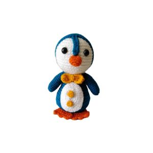 عروسک بافتنی مدل پنگوئن کد 002