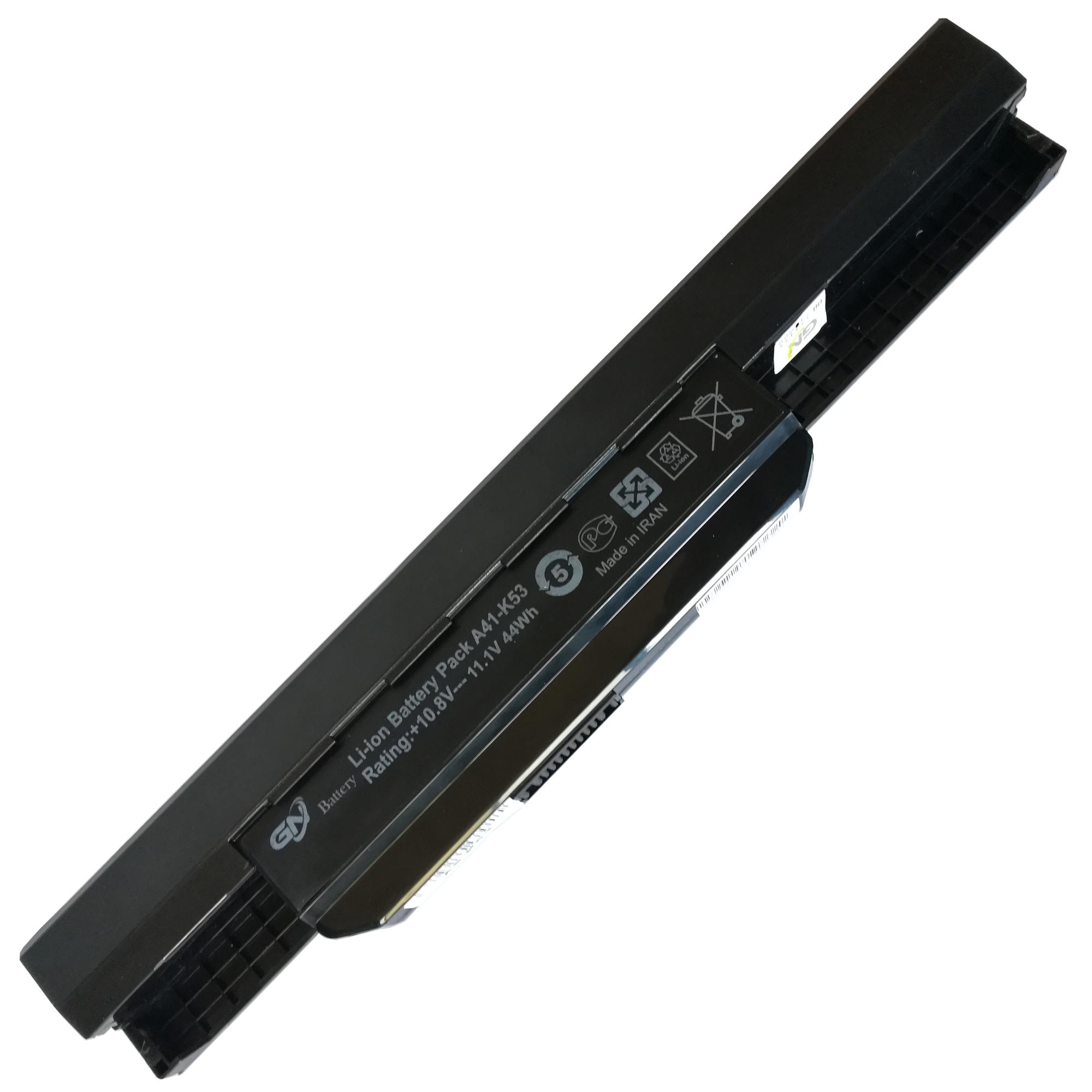 باتری لپ تاپ 6 سلولی جی ان مدل A41-K53 مناسب برای لپ تاپ ایسوس K53/K54/K43/A53/A43