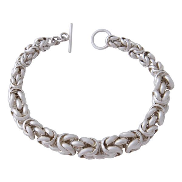 دستبند نقره مردانه بازرگانی میلادی کد DP_293