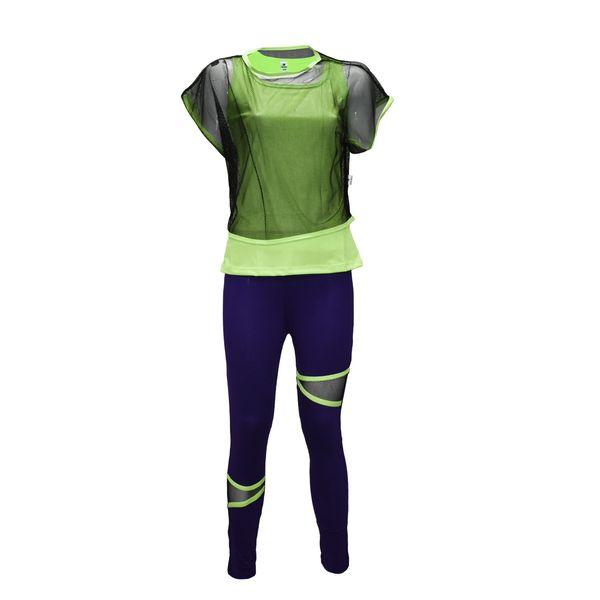 ست 3 تکه لباس ورزشی زنانه مدل 6404