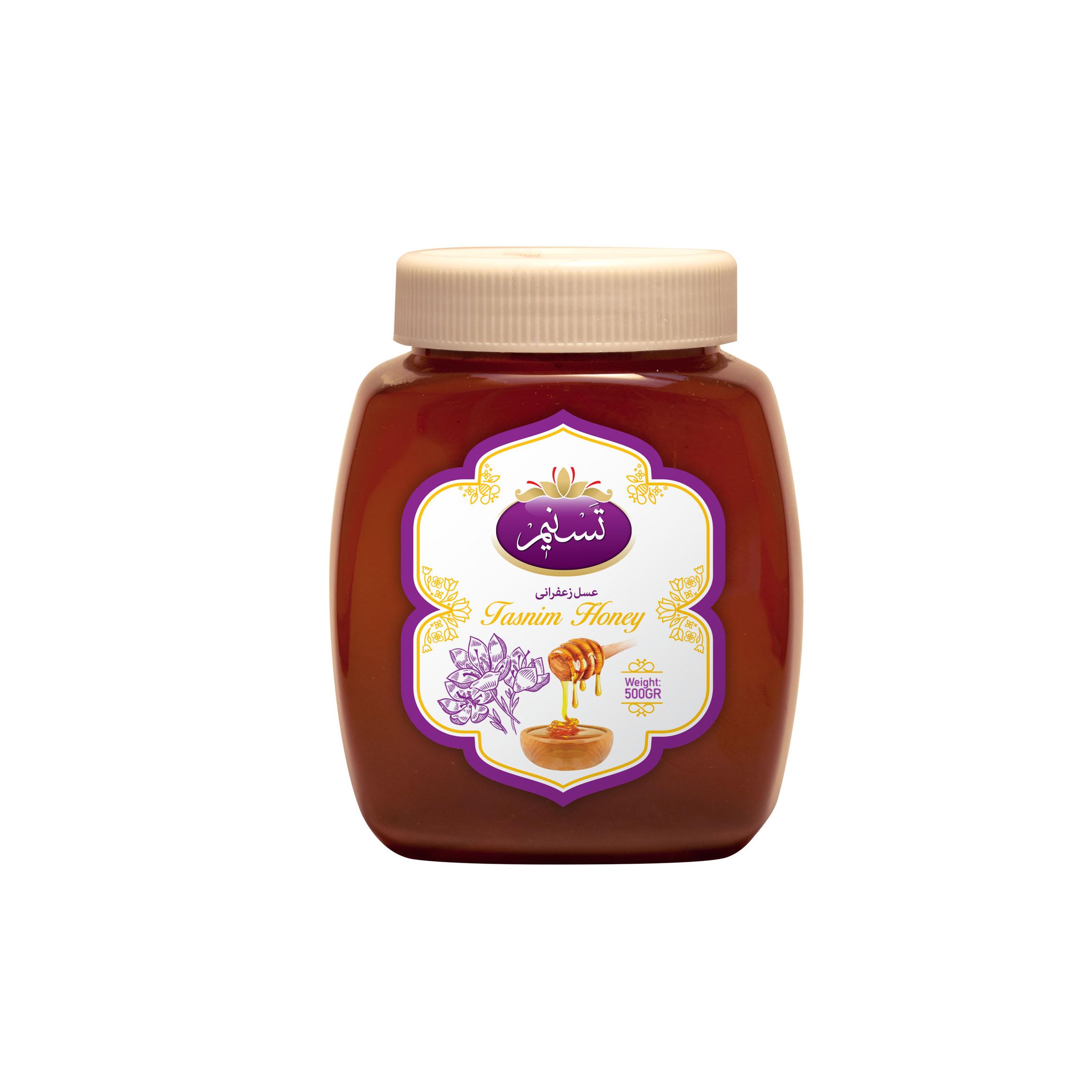 عسل زعفرانی تسنیم - 500 گرم