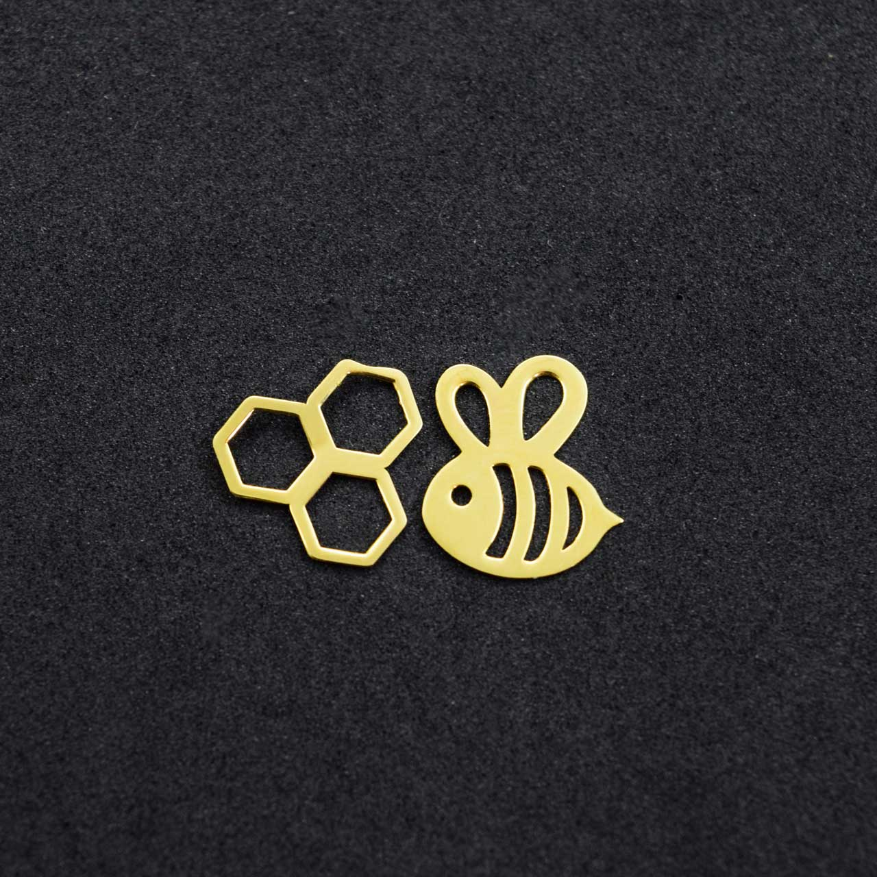 گوشواره طلا 18 عیار زنانه کانیار گالری طرح زنبور مدل E45