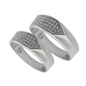 ست انگشتر نقره زنانه و مردانه مدل spt1055