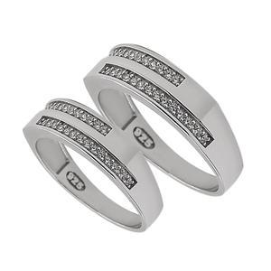 ست انگشتر نقره زنانه و مردانه مدل kj1440
