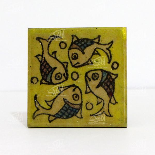 کاشی هفت رنگ  طرح ماهی مدل 1118800004