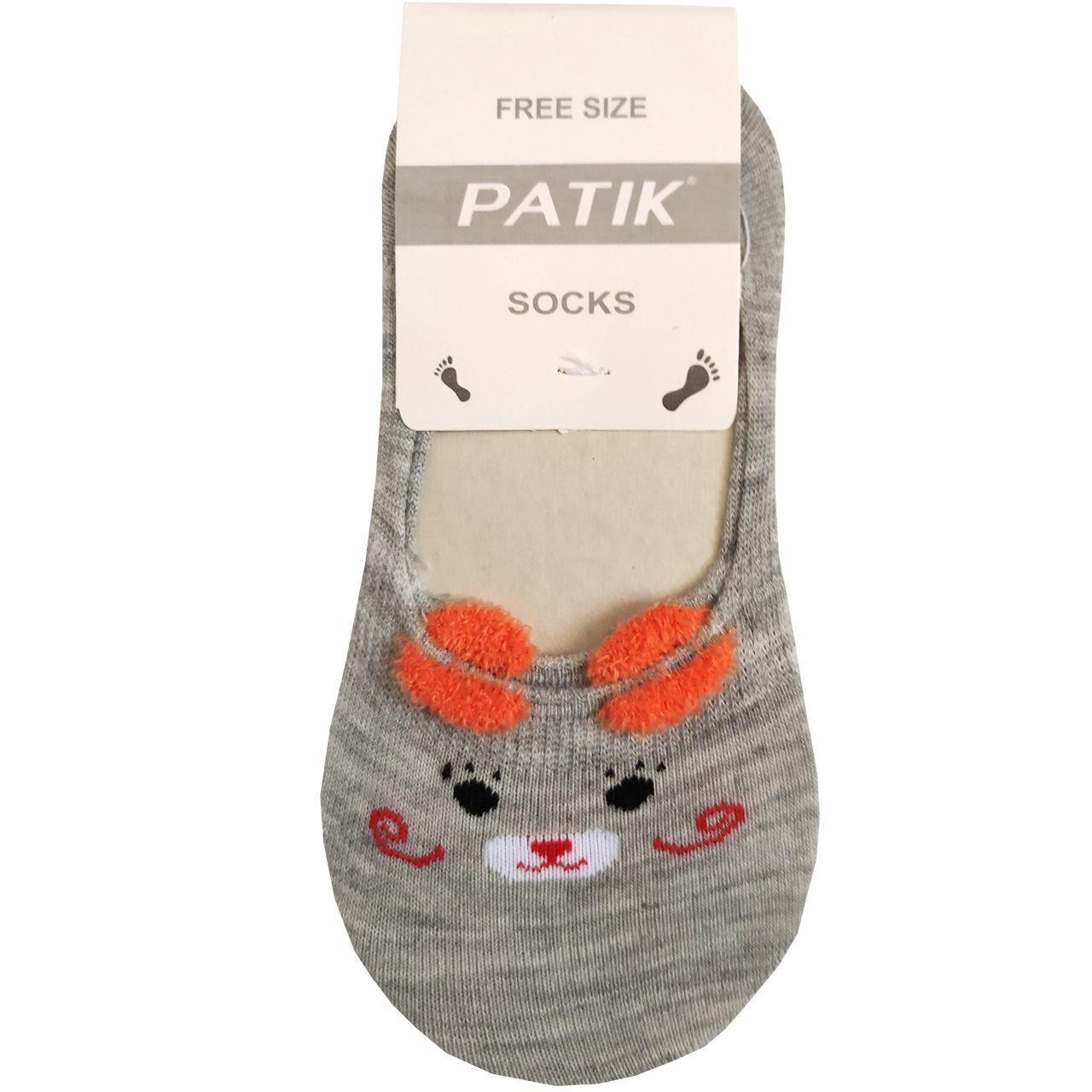 جوراب بچگانه پاتیک طرح گربه کد J028 -  - 2