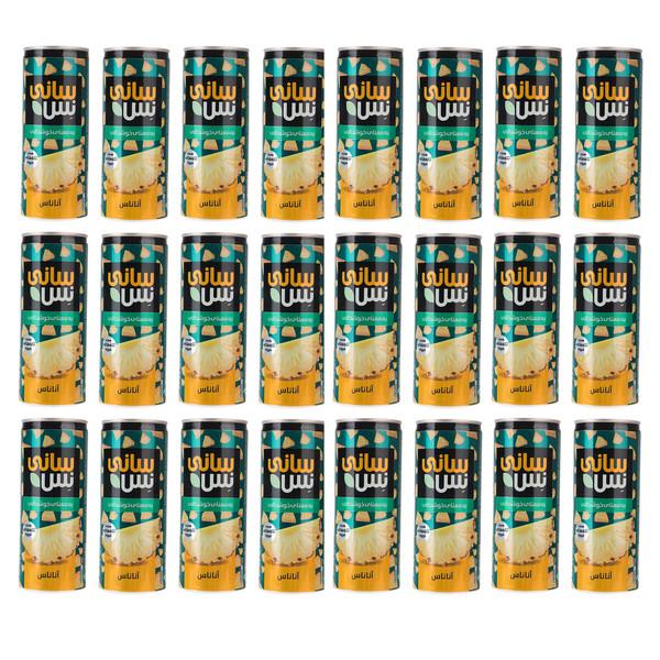 نوشیدنی بدون گاز آناناس همراه با تکه های میوه سانی نس - 240 میلی لیتر بسته 24 عددی