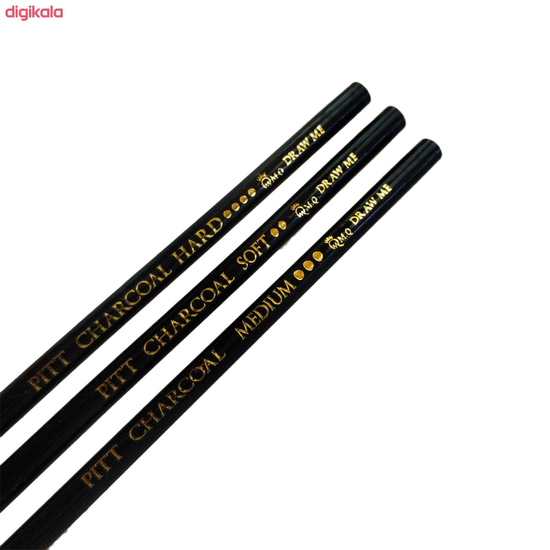 مداد کنته ام کیو مدل ART & Graphic PITT بسته 3 عددی main 1 1