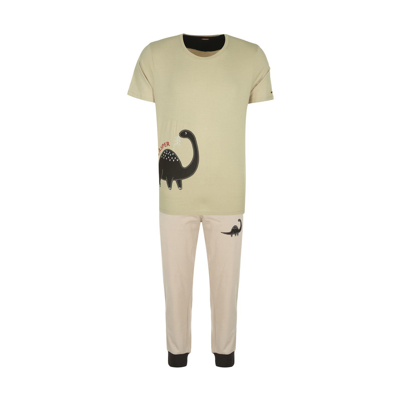 ست تی شرت و شلوارک راحتی مردانه مادر مدل 2041106-07 -  - 2