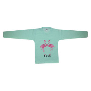 تی شرت آستین بلند دخترانه مدل فلامینگو کد 475