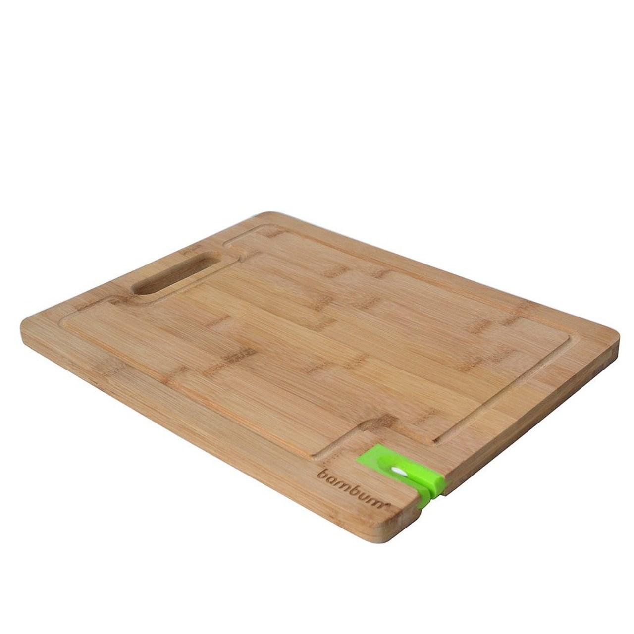 تخته گوشت با چاقو تیز کن بامبوم مدل Livada BKTL1