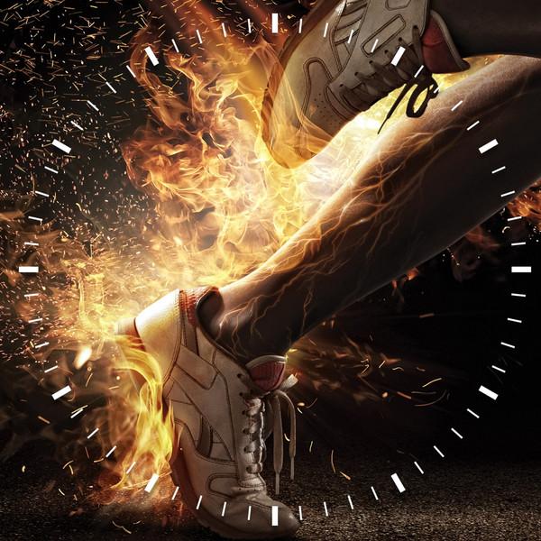 ساعت دیواری ویولت دکور مدل Sport S2