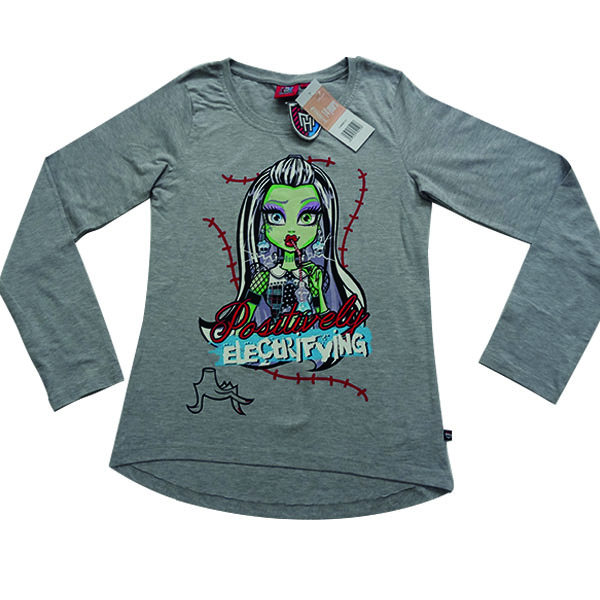 تی شرت آستین بلند دخترانه مانستر های مدل TABKHDMH