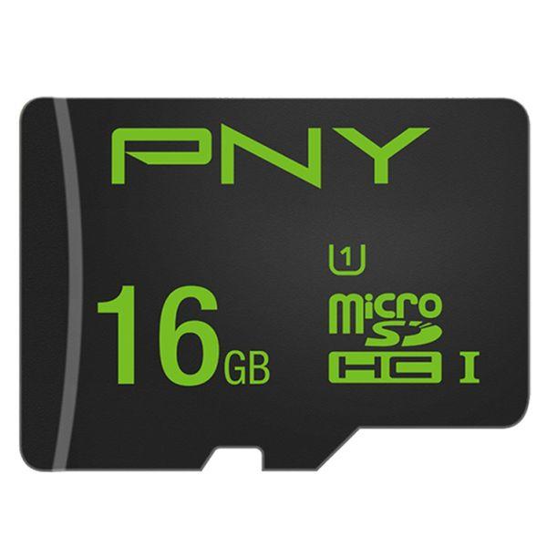 کارت حافظه microSDHC پی ان وای مدل U1 کلاس 10 استاندارد UHS-I سرعت 80MBps ظرفیت 16 گیگابایت به همراه آداپتور SD