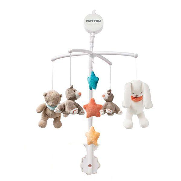 آویز تخت کودک ناتو مدل خرس و خرگوش