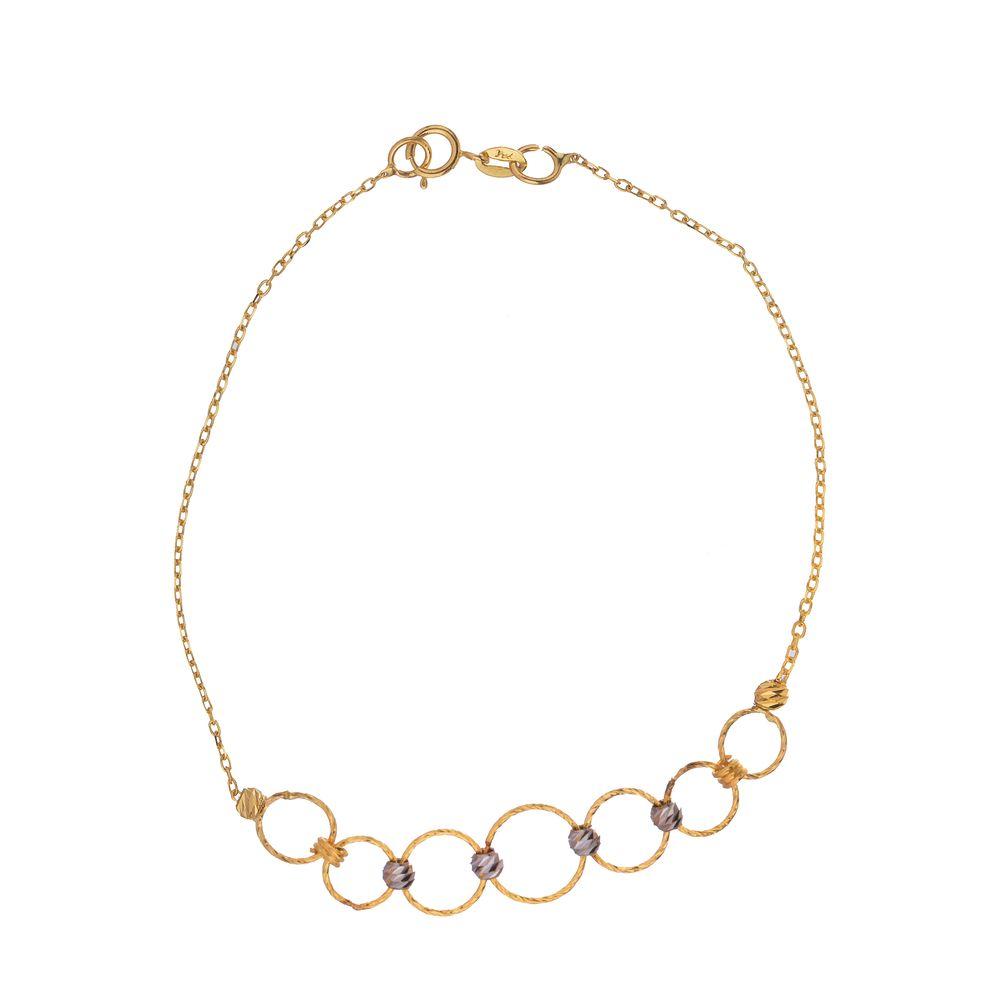 دستبند طلا 18 عیار زنانه مایا ماهک مدل ZMB1054
