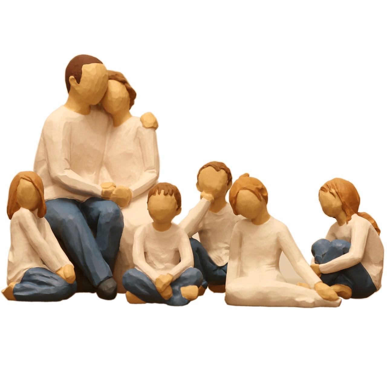 مجسمه امین کامپوزیت مدل گروه خانوادگی کد 500 بسته 6 عددی