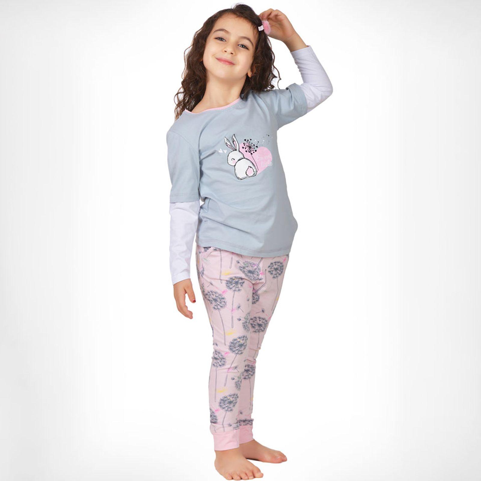 ست تی شرت و شلوار دخترانه ناربن مدل 1521328-93 -  - 2