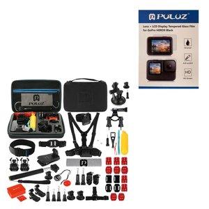 لوازم جانبی پلوز مدل P507 مناسب برای دوربین ورزشی به همراه محافظ لنز و صفحه نمایش دوربین