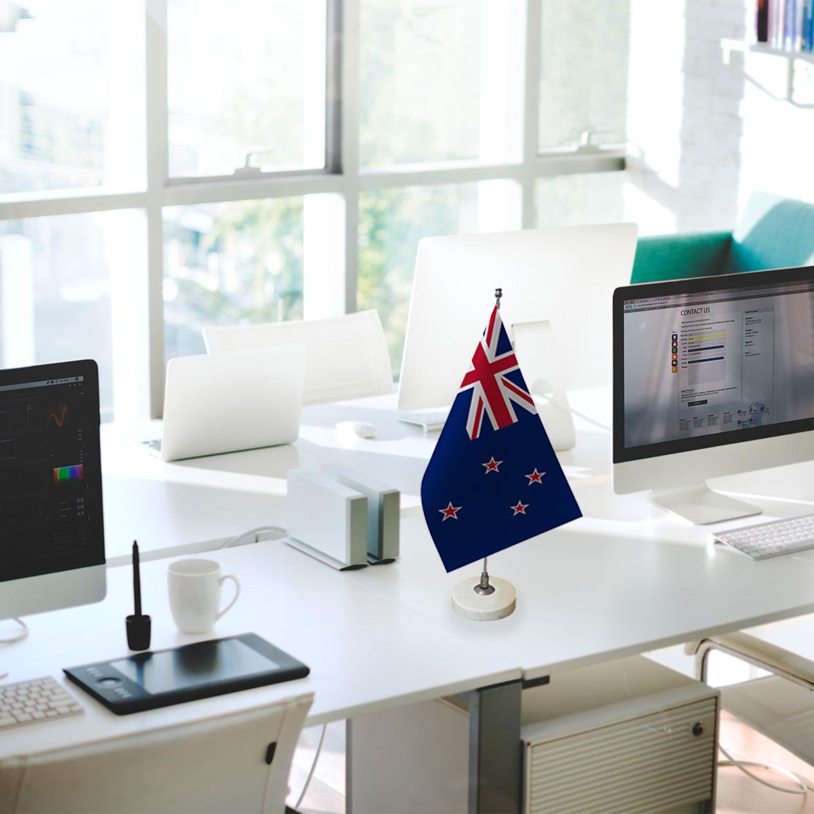 خرید                      پرچم رومیزی طرح پرچم کشور نیوزیلند کد pr59