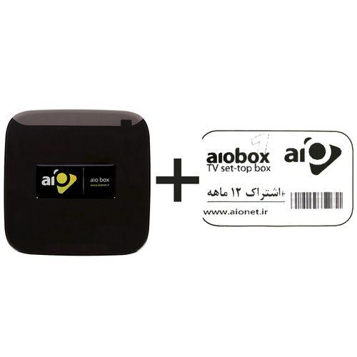 پخش کننده چند رسانه ای آیو مدل AioBox به همراه اشتراک دوازده ماهه
