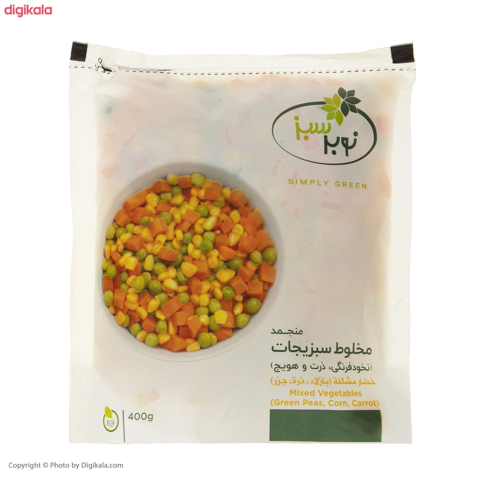 مخلوط سبزیجات منجمد نوبر سبز مقدار 400 گرم main 1 4