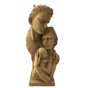 مجسمه طرح خاکی مدل خانواده
