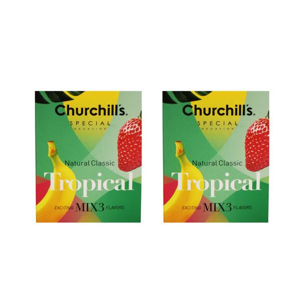 کاندوم چرچیلز مدل Natural Classic Tropical مجموعه 2 عددی