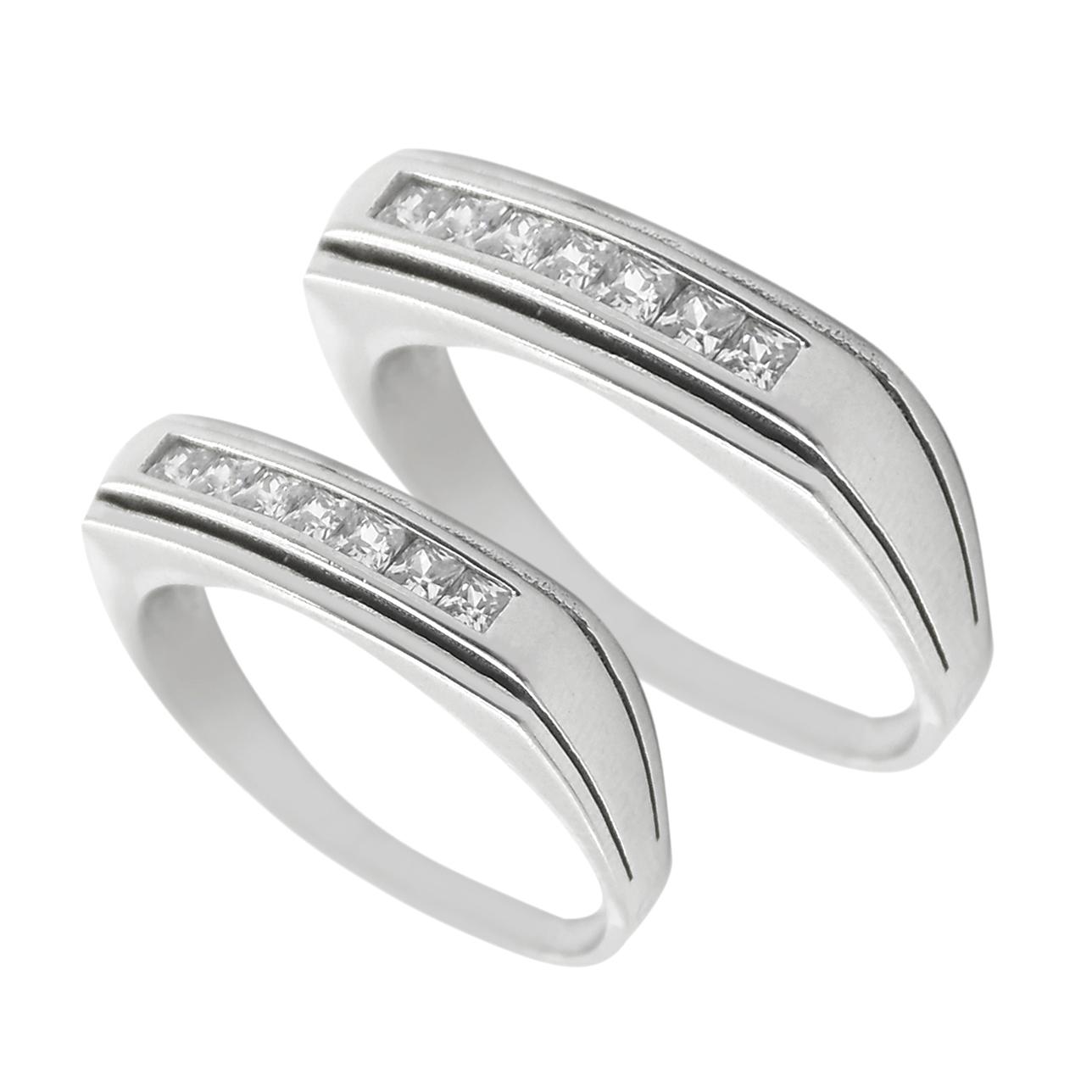 ست انگشتر نقره زنانه و مردانه مدل ghj009802