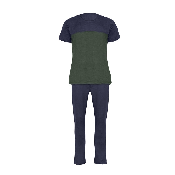 ست تی شرت و شلوار مردانه لباس خونه کد 990505 رنگ سبز