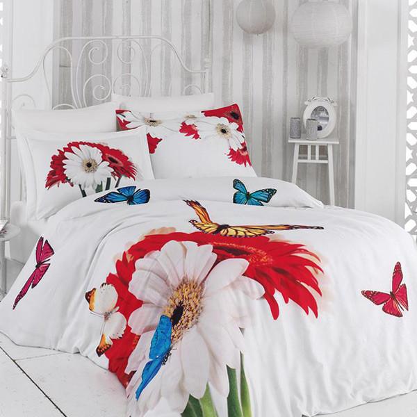 سرویس خواب کالرز آو فشن مدل گل و پروانه دو نفره 7 تکه